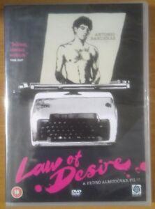 Law Of Desire (DVD, 2006) Antonio Banderas - NEW - Free Postage Gift Idea