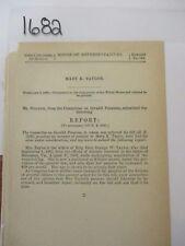 Government Report Civil War Brig. Gen. George W. Taylor Widow Pension  #1682