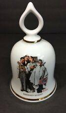 "Vtg Danbury Mint 1979 Limited Edition Norman Rockwell Bell ""Barbershop Quartet"""