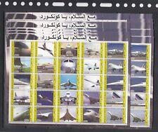 Concorde Aviation 2003 Djibouti MNH set 25 v perf X 10 Wholesale lot