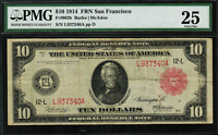 1914 $10 Red Seal - Federal Reserve Note San Francisco - FR-903b - PMG 25- VF