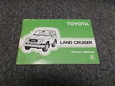1986 Toyota Land Cruiser Original Owner Manual Book FJ70 BJ70 FJ73 FJ75 HJ75
