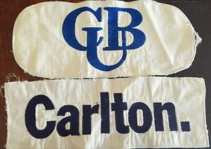 CARLTON AFL JUMPER PATCHES - ORIGINAL FOOTBALL GUERNSEY PATCHES - VFL AFL ERA