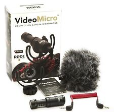 Rode Videomicro Compact Condensateur Microphone Directionnel Appareil Photo