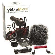 Rode videomicro Compatto Condensatore microfono direzionale MICROFONO TELECAMERA
