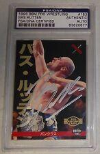 Bas Rutten Signed 1996 BBM Pancrase Pro Wrestling Card 183 PSA/DNA Autograph UFC