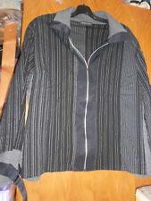 Blouson noir avec  rayures JEAN-MARC PHILIPPE - Taille 8 (54/56) - TRES BON ETAT