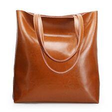 Women Genuine Leather Shoulder Bag Messenger Tote Handbag Large Shopping Purse