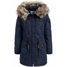 """Khujo """"Dhalia"""" parka señora chaqueta invierno abrigo capucha pelaje azul PVP: € 199,95"""