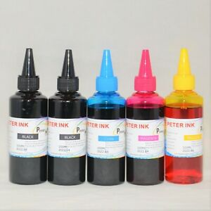 5X100ML (2BK) dye refill Ink alternative for 4 colors Printer CISS  A