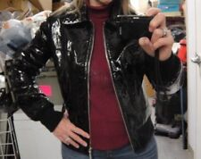 TORY BURCH Real Patent Leather Fancy Ladies Bomber Jacket Size 8 So in style NOW