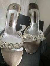 Wedding Cruise Stunning Gina GOLD ZETA SHOE Plus Swarovski Crystals SIZE 6