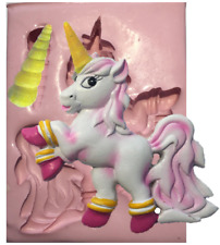 UNICORN PONY SILICON MOULD MOLD CUPCAKE  CAKE FIMO ICING CLAY CARD TOPPER