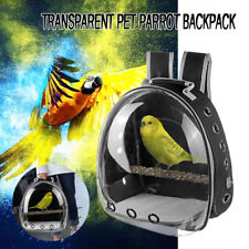 Travel Bag Transparent Pet Backpack Parrot Carrier Cage Bird Wooden Stands House