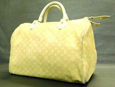 Louis Vuitton Handbag Croisette Monogram Mini Lin Speedy 30 Ivoly