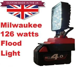 Massive 126 Watt combination Milwaukee work floodlight with adjustable angle