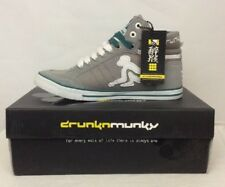 DRUNKNMUNKY BOSTON CLASSIC HIGH TOPS GREY SIZE 4. BNWT