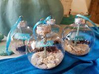 Coastal Christmas Ornaments set of 4