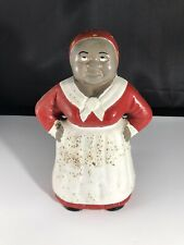 New ListingVintage Cast Iron Black Americana Lady Piggy Bank 8� Tall Pre Owned