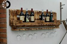 Weinregal aus Upcycled Euro Paletten Massiv Holz Bar Recycling