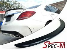 Painted 040 Black Trunk Spoiler Lip 2015+ W205 New C180 C200 C250 C300 AMG Sedan