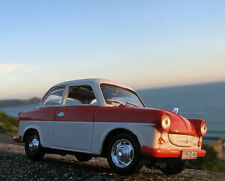 TRABANT P50 1958 awz 1/43 packaged red & white ddr trabi east germany