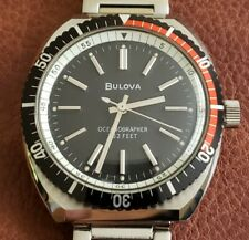 NOS Fully Signed - Bulova Oceanographer 333 Feet Vintage Watch - New Old Stock