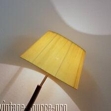 edle 60er Jahre Design Boden Stehlampe Mahagoni Finish mit Bast Schirm Vintage