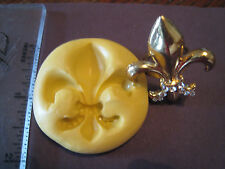Cake Bling fleur de lis  Silicone Molds Fondant Gumpaste isomalt clay #300-9