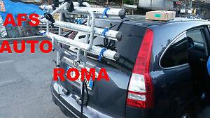COMPATIBILE CON Honda Cr-V 5p PORTABICI POSTERIORE PER AUTO PER 3 BICI PORTA BICICLETTE IN ACCIAIO PER COFANO AUTO RETRO PER 3 CICLO CON REGOLAZIONI DI CINGHIE 12-16