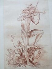 "Federico Cantu, ""Orfeo"" (Orpheus) Etching, 1955, Signed"