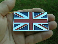 UNION JACK FLAG METAL CAR BADGE Chrome Emblem *NEW* Jaguar England British MG