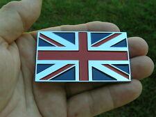 UNION JACK FLAG METAL CAR BADGE Chrome Emblem *NEW Jaguar England British AUSTIN