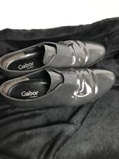 Gabor Comfort `CITIZEN 673' Ladies Grey Patent Flat Shoes Size 6.5 G *Worn Once*