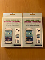 X2 Samsung Galaxy S3 Mini Starter kit- Gel case, Screen protector & Car charger