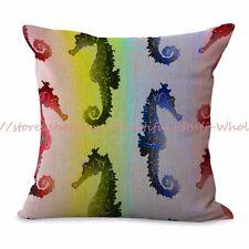 US SELLER-seahorse marine fish ocean cushion cover pillow covers decorative