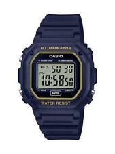 Casio F108wh-2a2 Digital Chronograph Watch Blue Resin Alarm 7 Year Battery