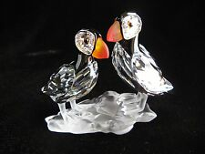 "Swarovski Crystal - PUFFINS - MINT - 3"" Long - BOX - COA - #261643"