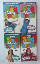 LOT 4 CEDARMONT KIDS SING ALONG SONGS VHS VIDEO TAPES Christmas Silly Pre-School