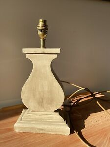 """Table Lamp -  Shabby Chic Grey wooden base 14.5"""" in Total Height"""