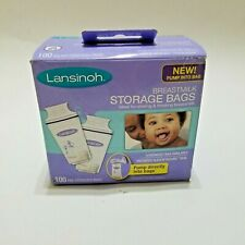 Lansinoh Breastmilk Storage Bags Pack of 100 Breast Milk Freezer Sterilized