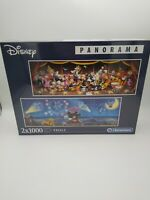 Disney Panorama 2 x 1000 piece Jigsaw Puzzles in 1 box by Clementoni - UK Seller