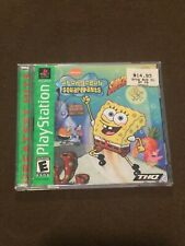 Sony PlayStation PS1 Video Game SpongeBob SquarePants Supersponge Rated E