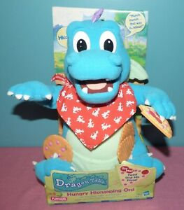 1999 Dragon Tales Hungry Hiccupping Ord Talking Plush Playskool Pizza Cookie New