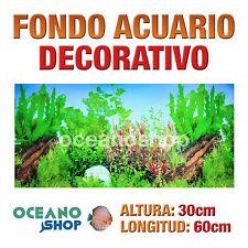 FONDO 60x30cm ACUARIO DECORATIVO VINILO PLANTAS CALIDAD D433
