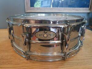 """Pearl SensiTone Snare Drum Custom Alloy Steel Shell 8x Lug 02AF 14"""" x 5.5"""""""