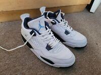 Nike Air Jordan 4 Retro LS Columbia White Legend Blue Navy 314254-107 Size 11.5