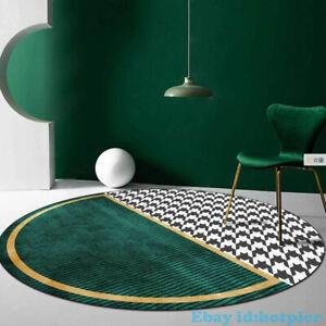 Circular Abstract Green Golden Rug Parlor Bedroomnon-slip Fashion Nordic Simple