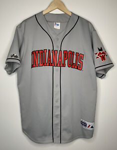 Majestic x Indianpolis Indians MiLB Baseball Jersey - XL - Made In USA