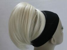 """New Claw Clip  short ponytail Synthetic Hairpieces Bun Scrunchies hair updo 5"""""""